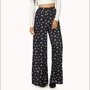 Forever 21 Elephant Print Palazzo Pants Size S